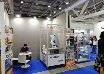 tecno-pro-cobot-yaskawa-lenze-schunk-farete2019-stand